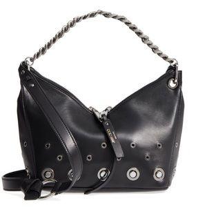 JIMMY CHOO Raven black nappa leather shoulder bag